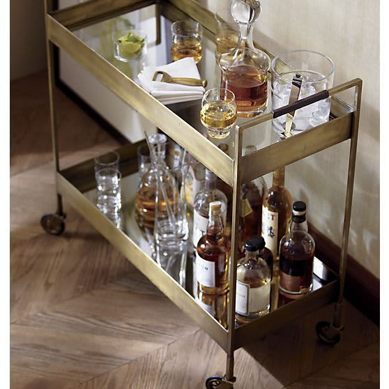 5 Bar Carts That Pull Double Duty: gallery image 1