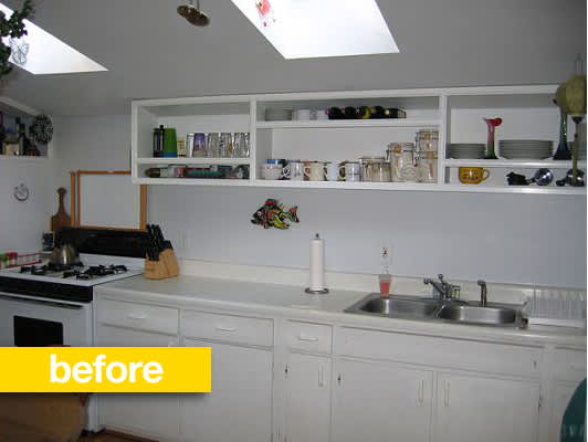 Kitchen Before & After: Stephanie's Low Budget Kitchen Remodel