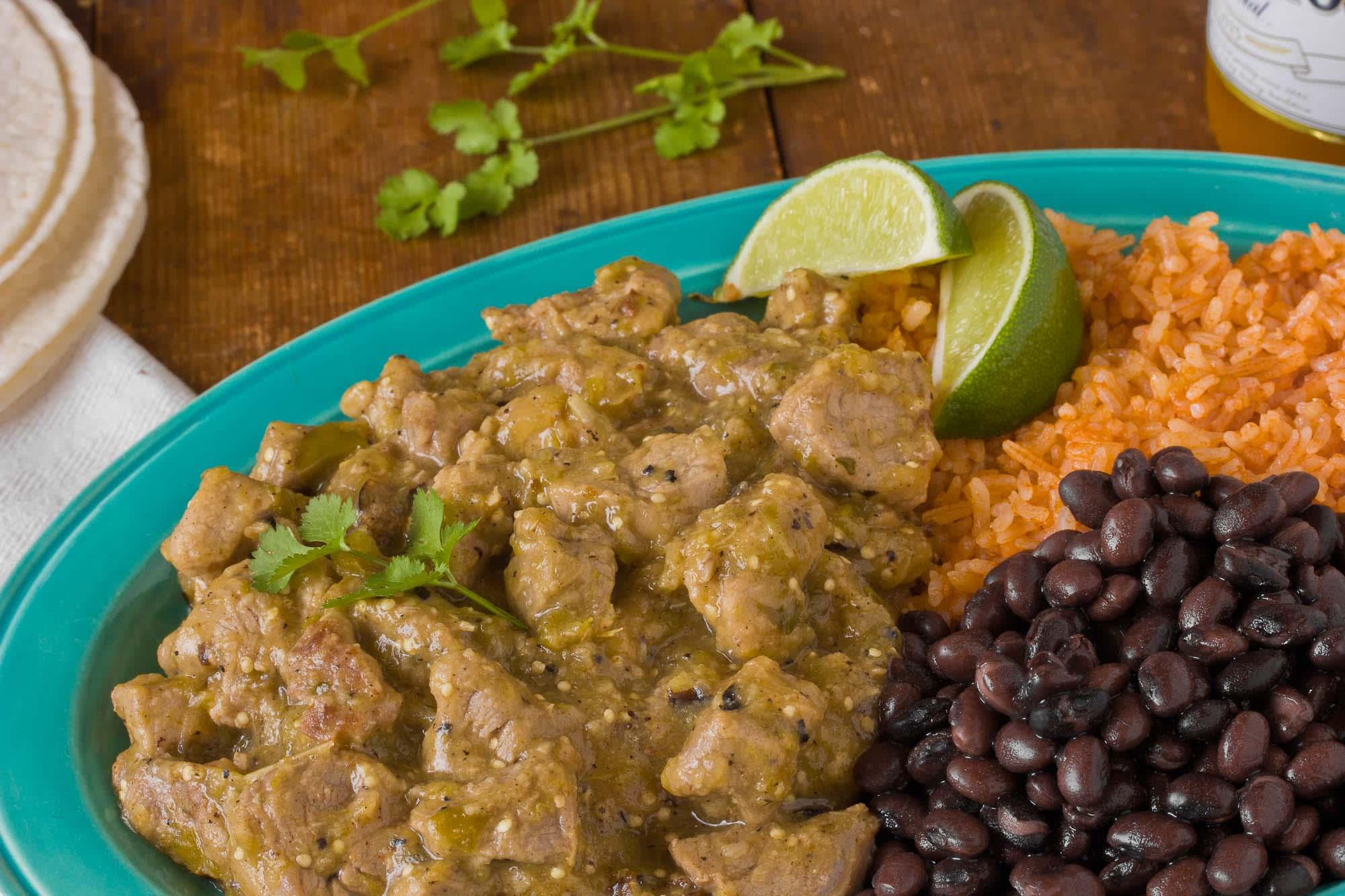 Recipe: Pork Tenderloin in Tomatillo Sauce