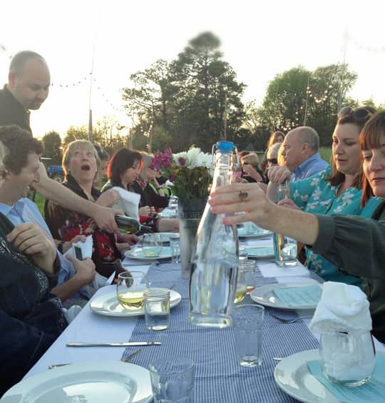 Enjoying a Farm to Table Dinner, with Children