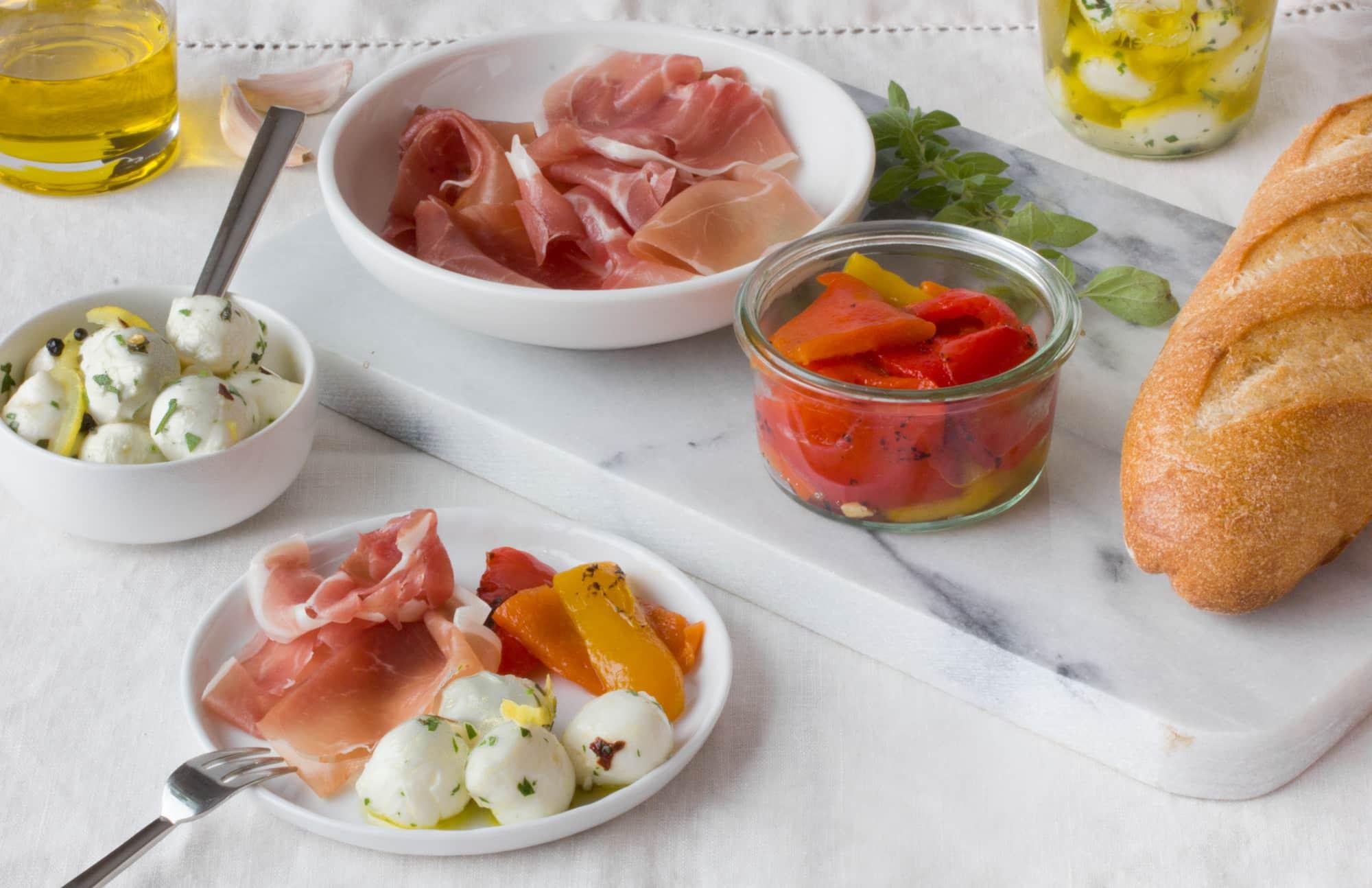 Easy Appetizer Recipe: Garlic and Herb Marinated Mozzarella