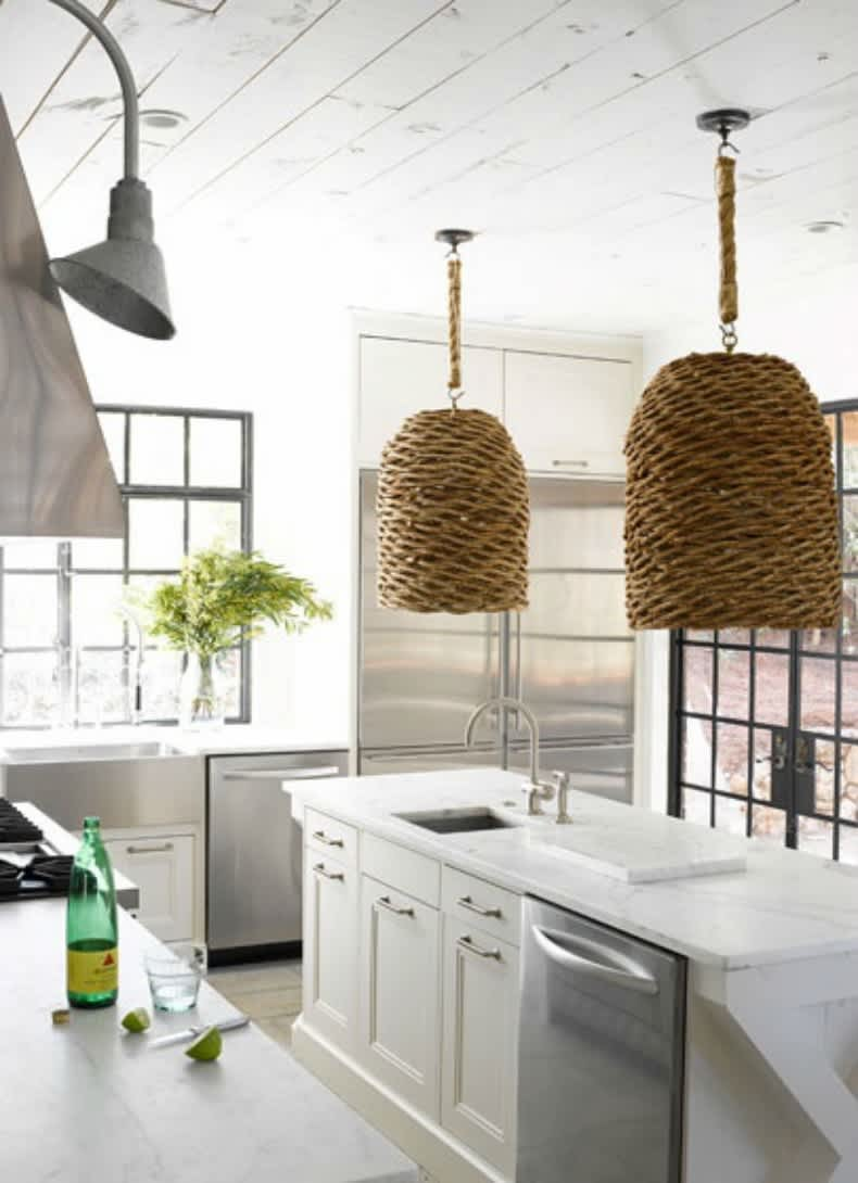 Easy Chic: Wicker Pendant Lights: gallery image 6