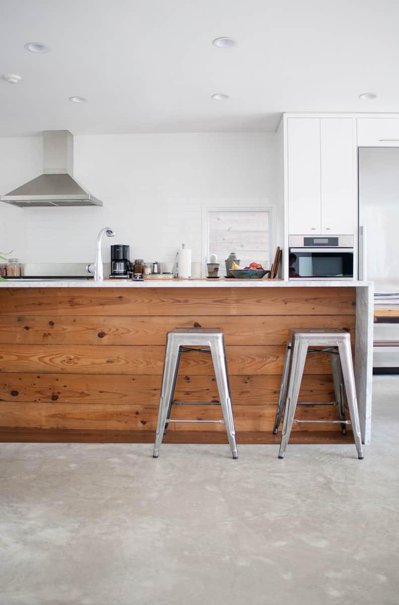 white wood modern kitchen