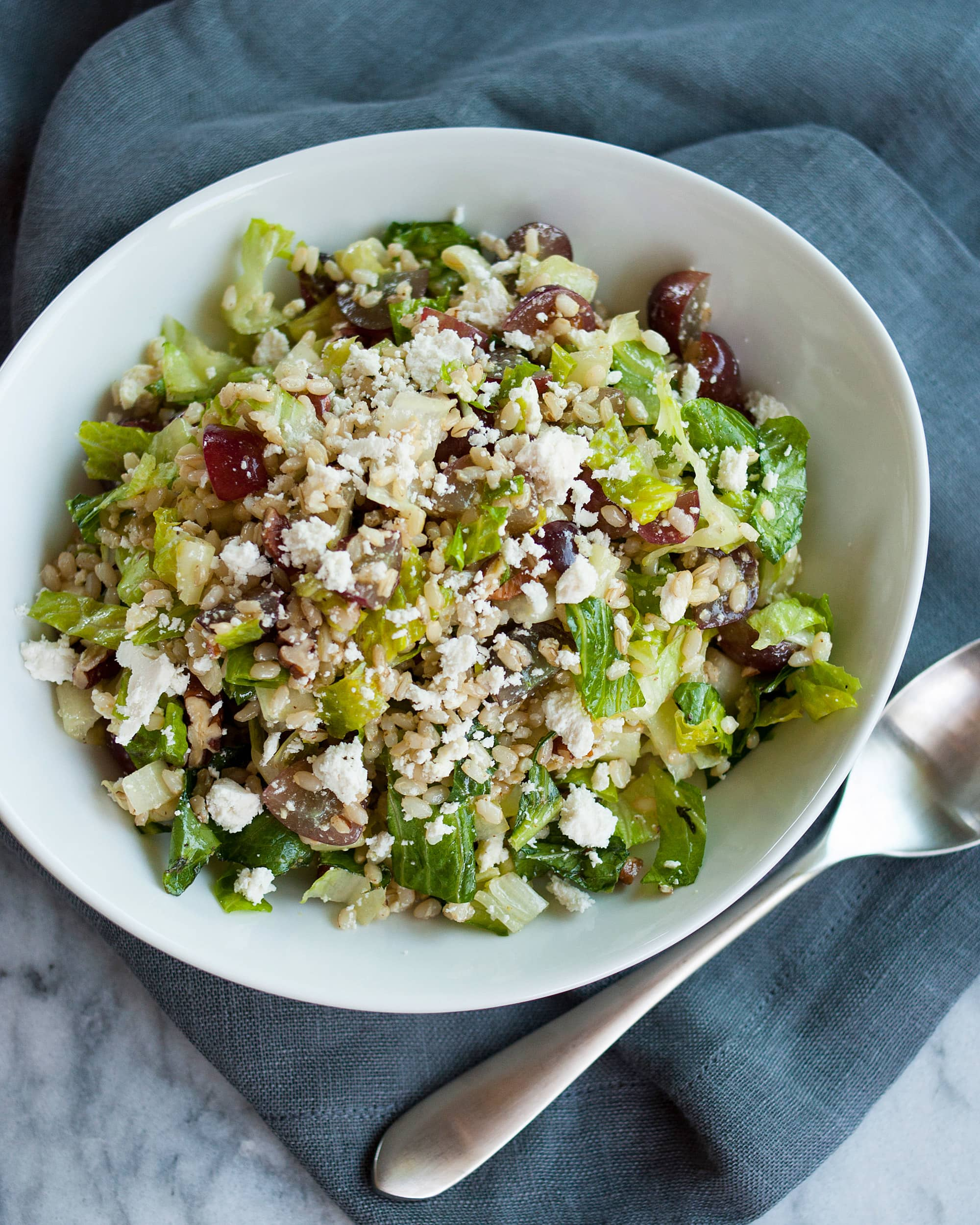 Recipe: Chopped Brown Rice Salad With Grapes And Pecans