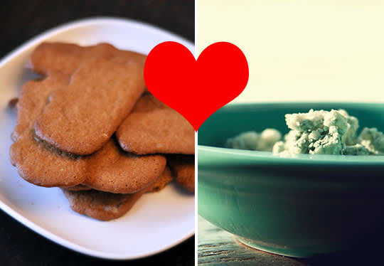 Learn To Love: Blue Cheese on Gingersnaps
