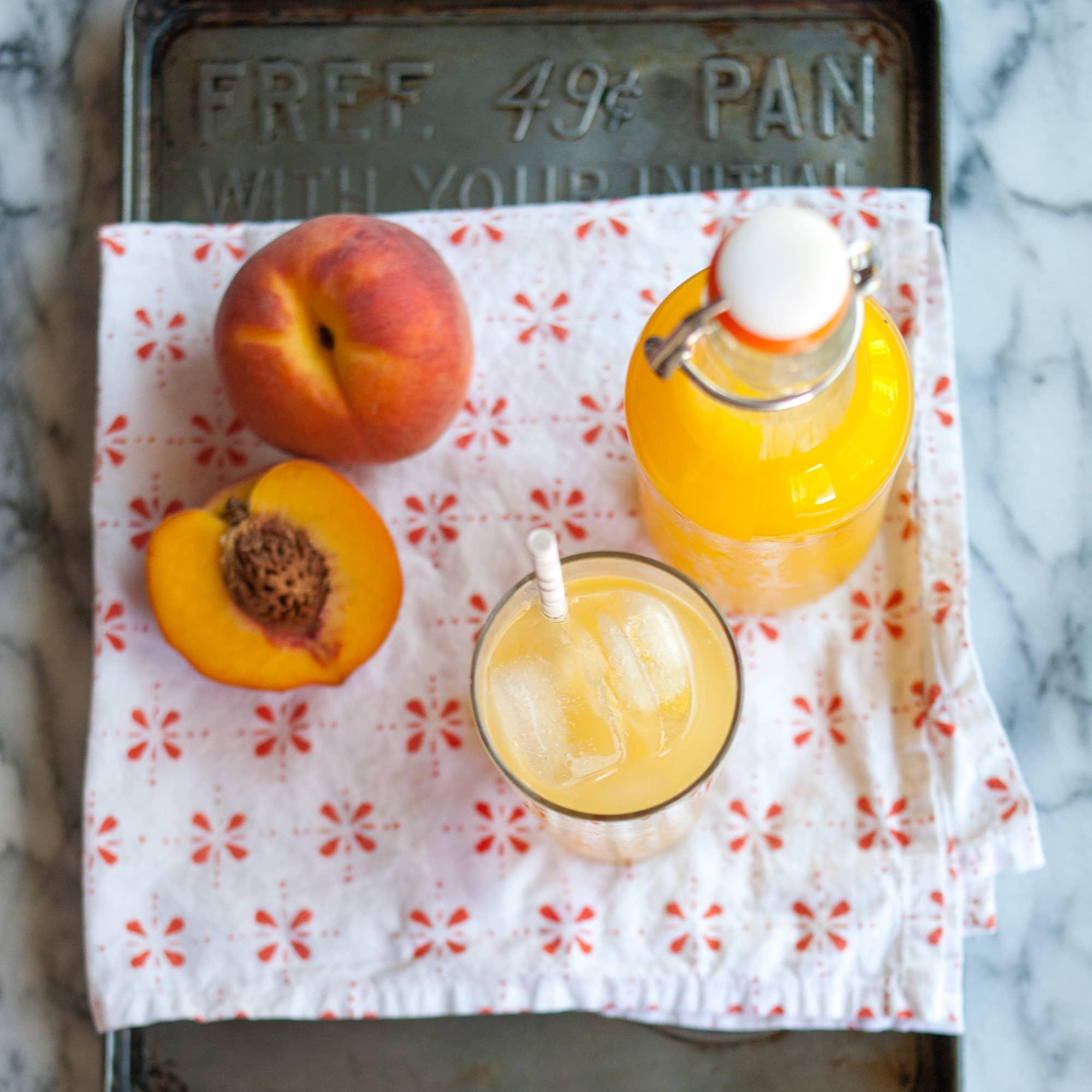 Summer Recipe: Fresh Peach Soda