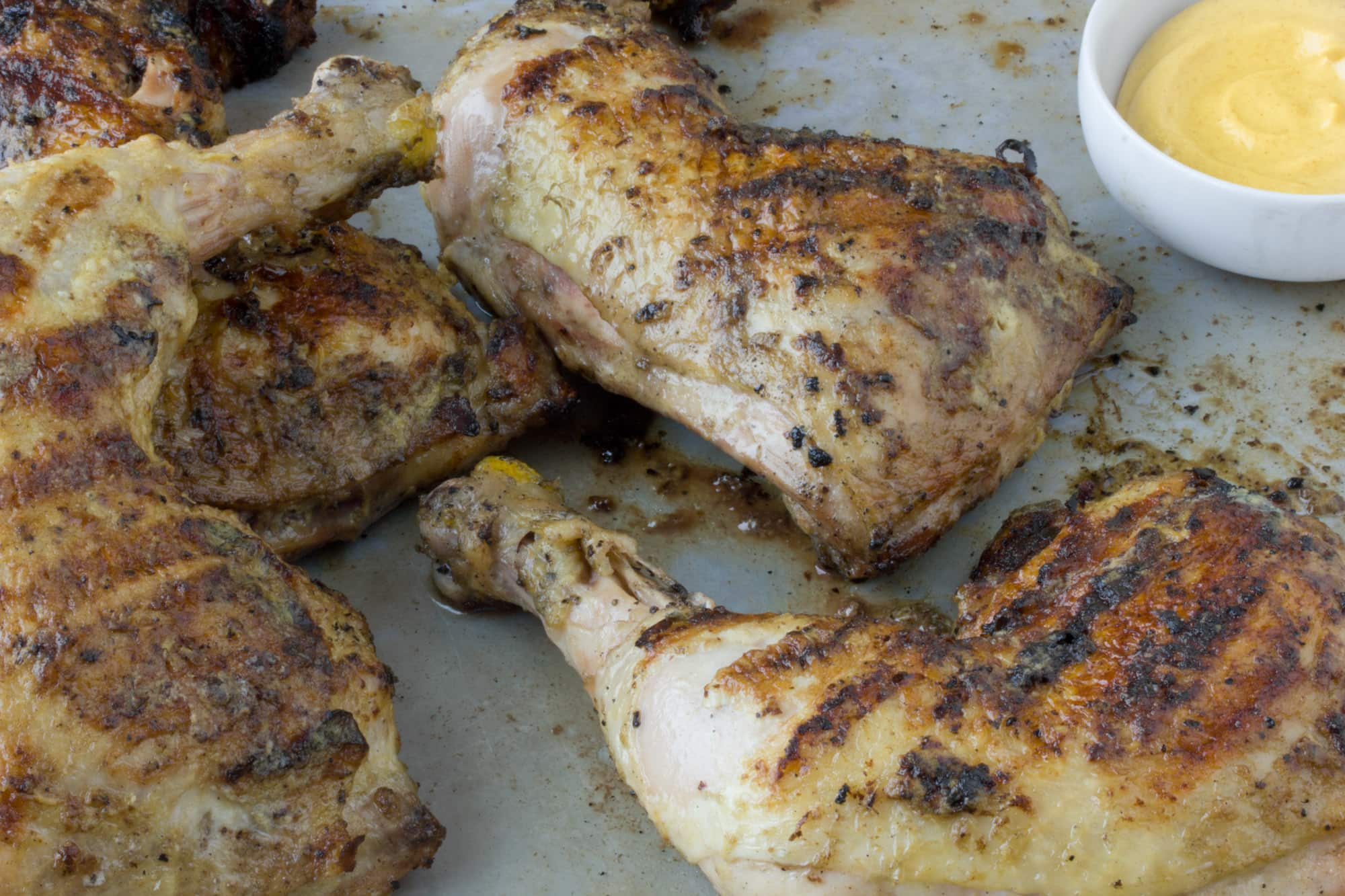 Recipe: Grilled Chicken Legs with Dijon & White Wine Glaze