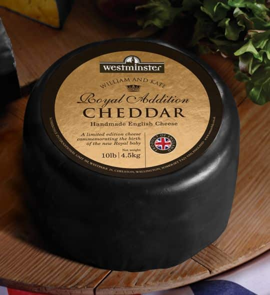 A Cheese In Honor of the New Royal Baby: Royal Addition Cheddar