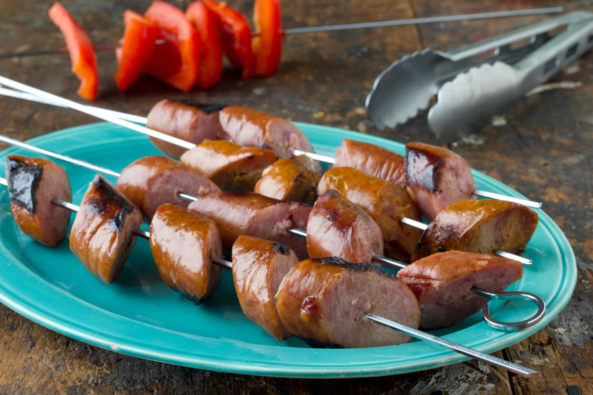 Recipe: Grilled Smoked Sausage Skewers