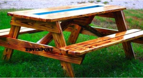The Best Thing Ever for an Outdoor Party? Beer and Wine Gutter Picnic Tables: gallery image 4