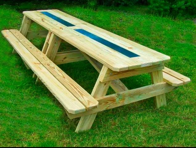 The Best Thing Ever for an Outdoor Party? Beer and Wine Gutter Picnic Tables: gallery image 5
