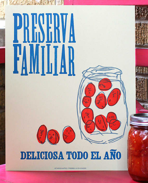 Lovely Letterpress for Your Kitchen Walls: gallery image 2