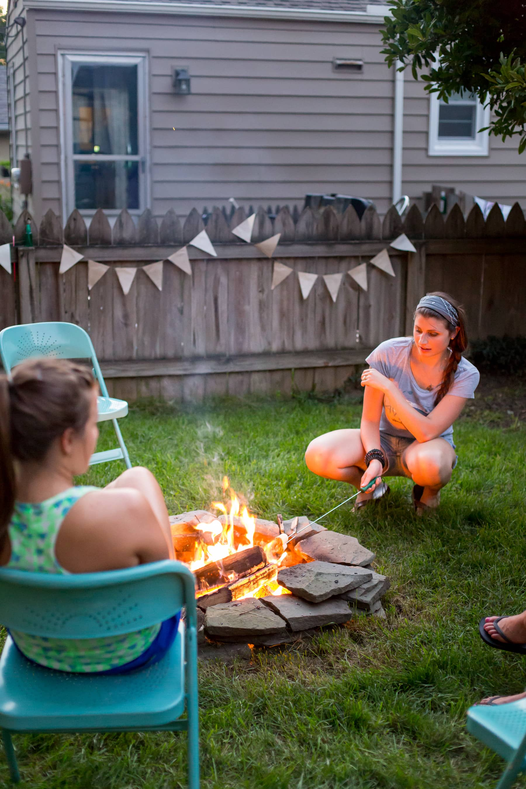 A Backyard S'mores Party