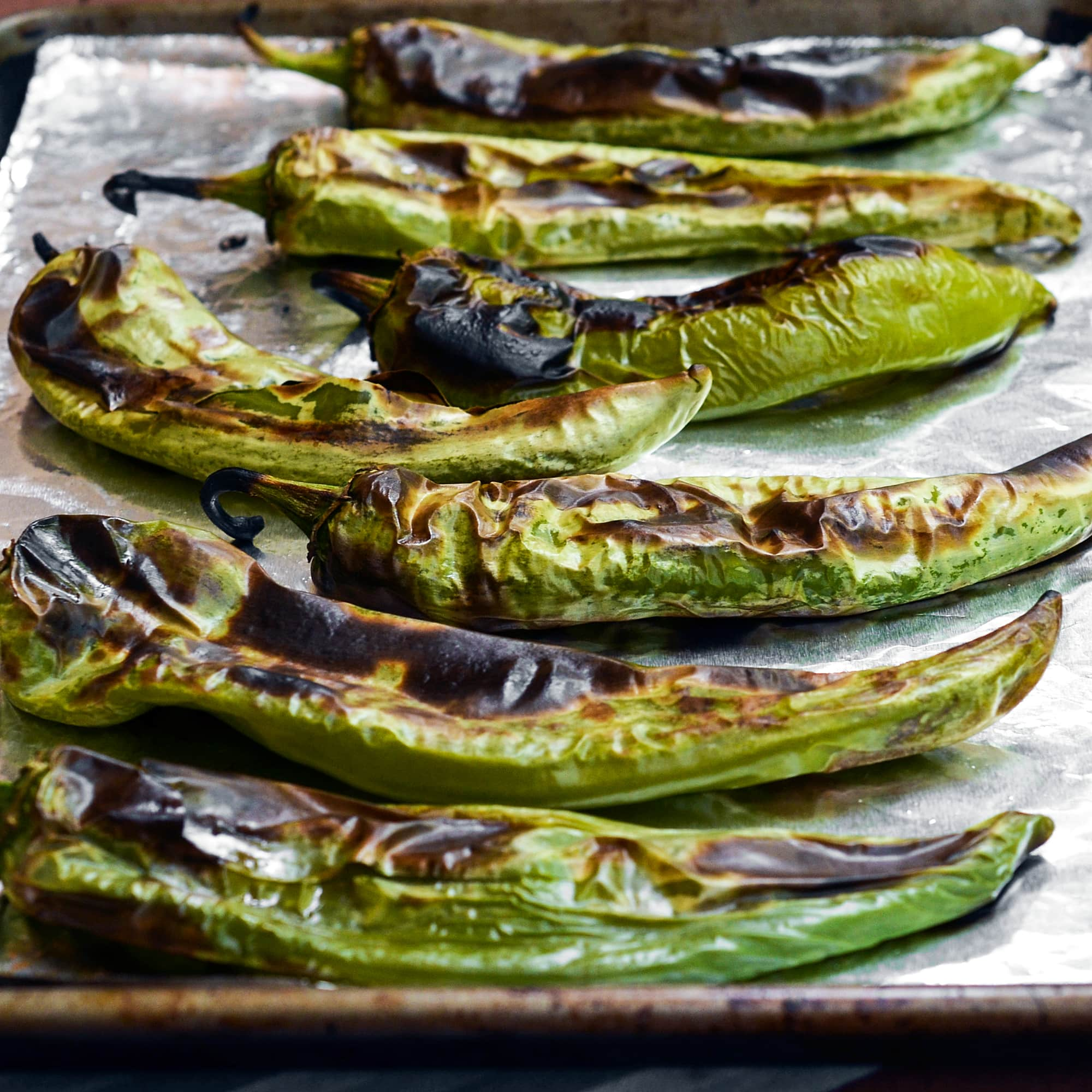 How To Roast and Freeze Green Chiles