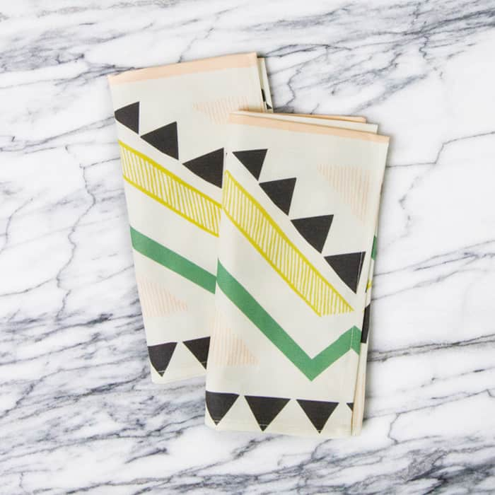 For a Little Flash: Geometric & Patterned Napkins from A Sunny Afternoon: gallery image 1