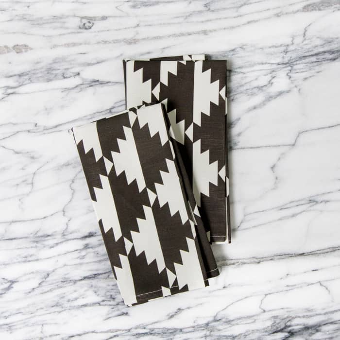 For a Little Flash: Geometric & Patterned Napkins from A Sunny Afternoon: gallery image 2
