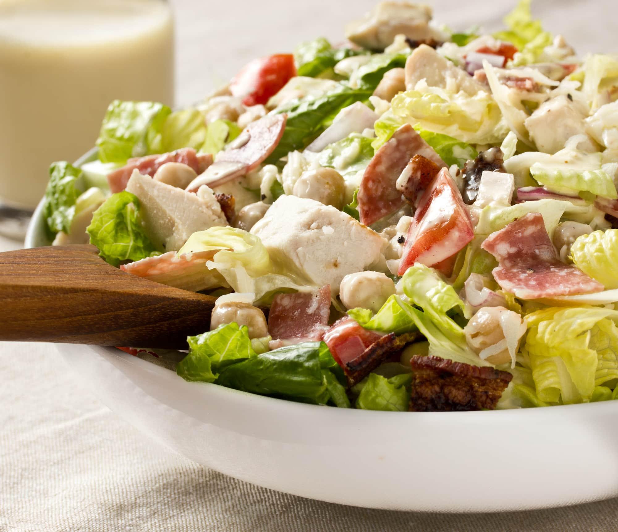 Recipe: Italian Chopped Salad With Creamy Garlic