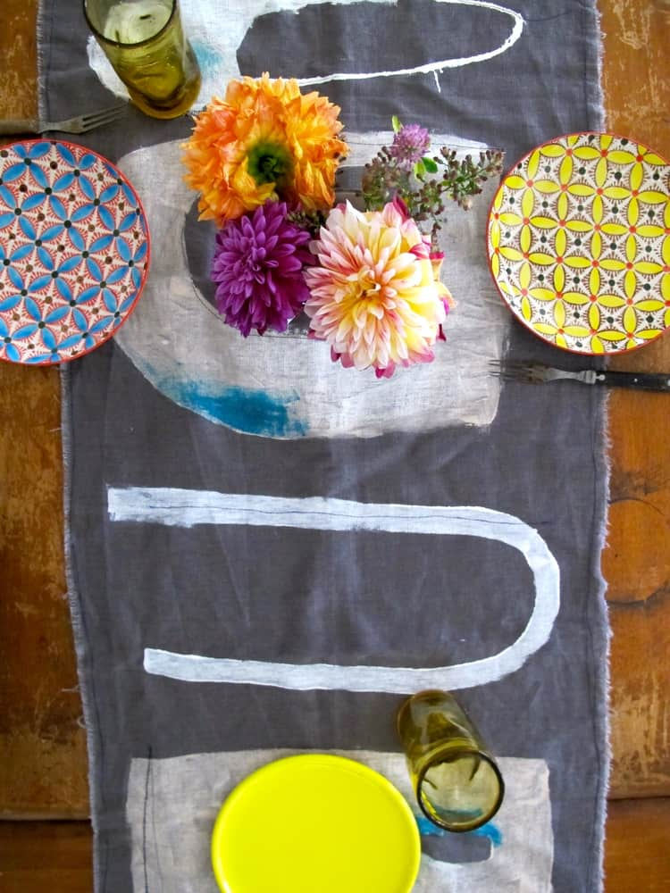Milk Farm Road: Artful Hand-Painted Linen Table Runners and Textiles: gallery image 2