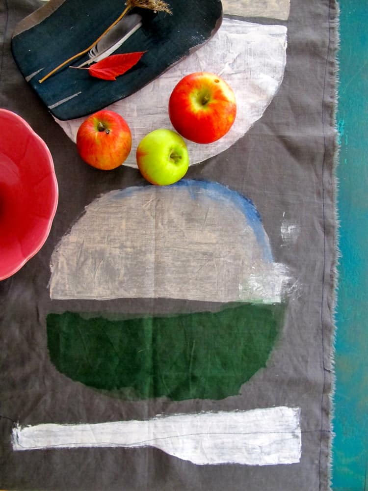 Milk Farm Road: Artful Hand-Painted Linen Table Runners and Textiles: gallery image 1