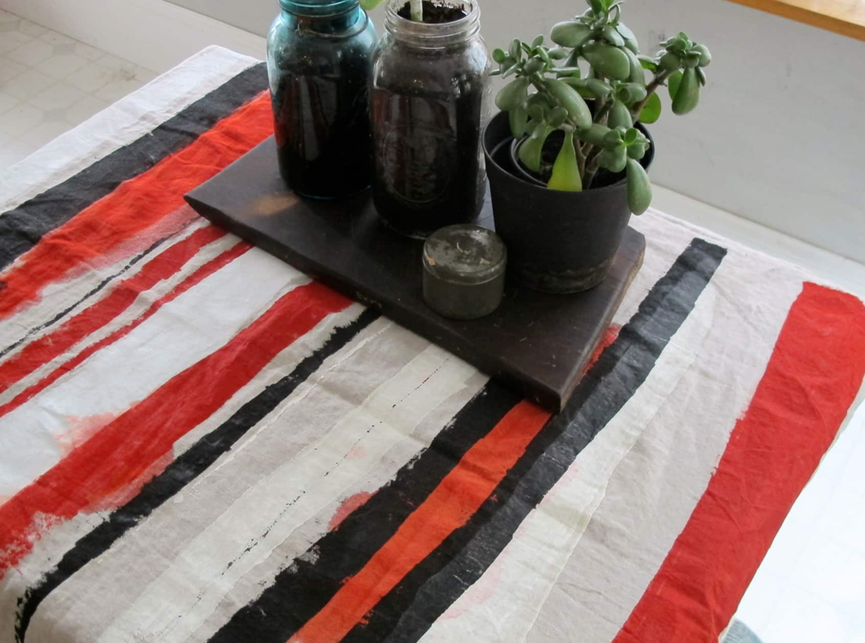 Milk Farm Road: Artful Hand-Painted Linen Table Runners and Textiles: gallery image 4