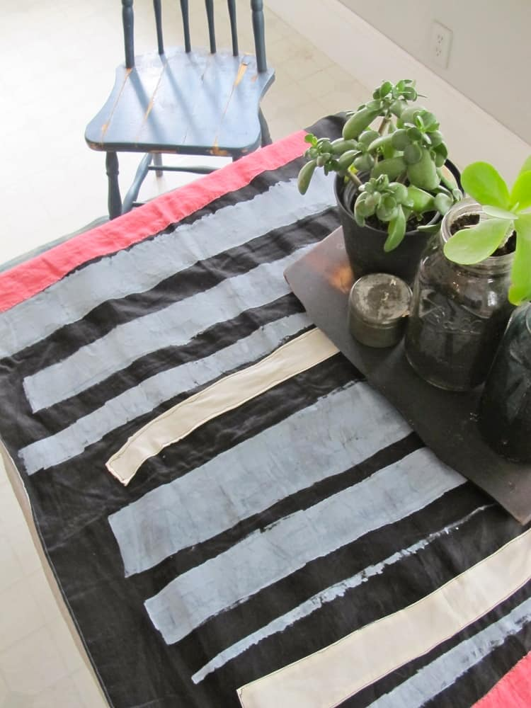 Milk Farm Road: Artful Hand-Painted Linen Table Runners and Textiles: gallery image 3