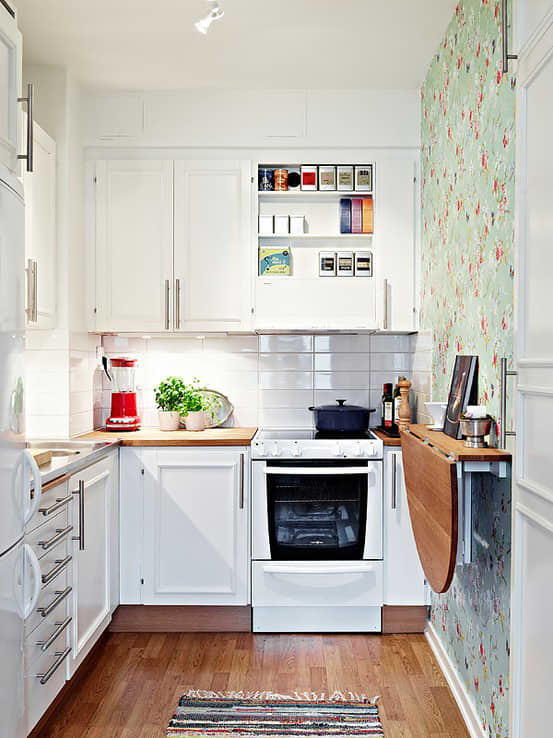 15 Small Space Kitchens, Tips, and Storage Solutions That Inspired Us: gallery image 15