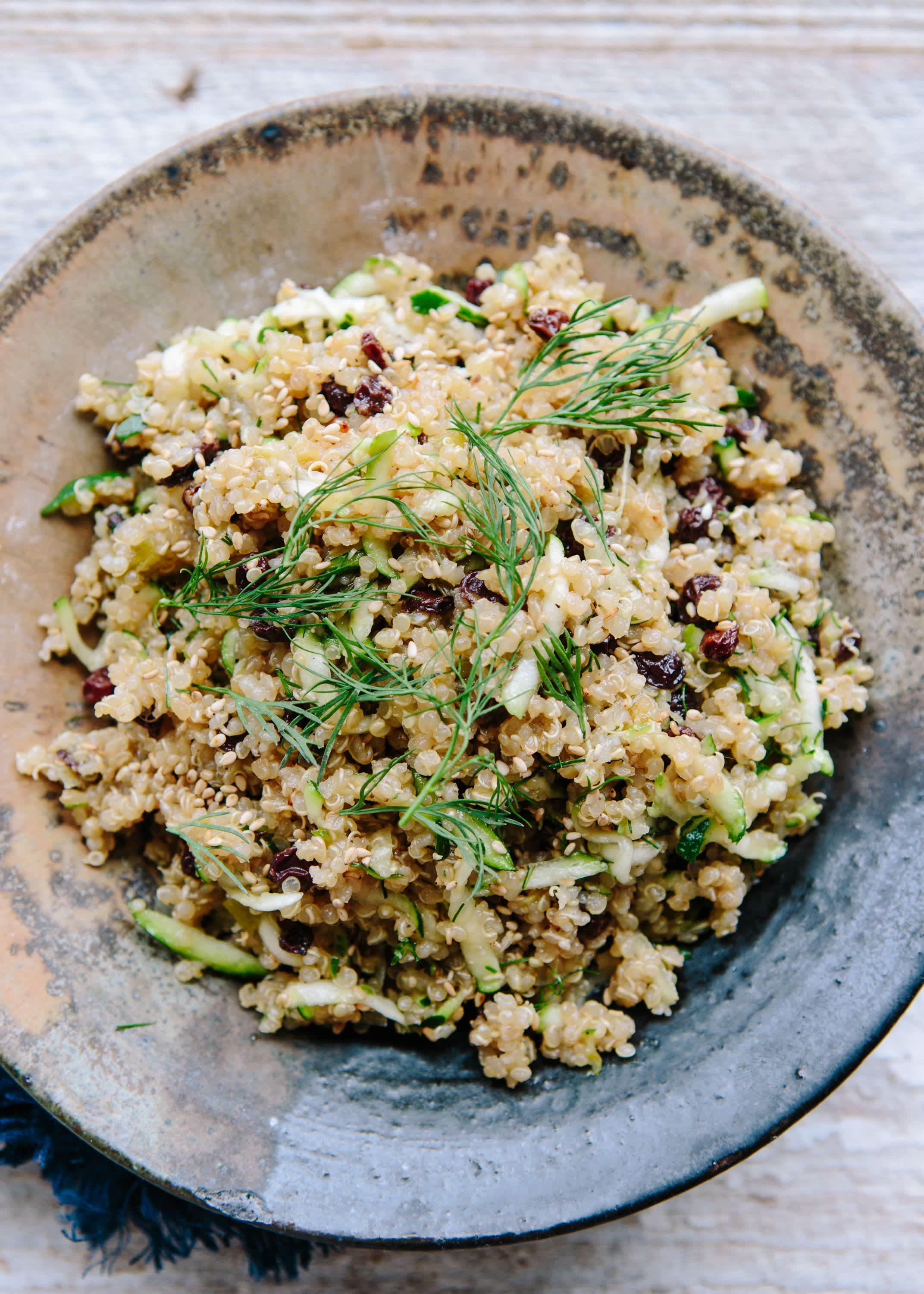 Lemon Quinoa with Currants, Dill, and Zucchini