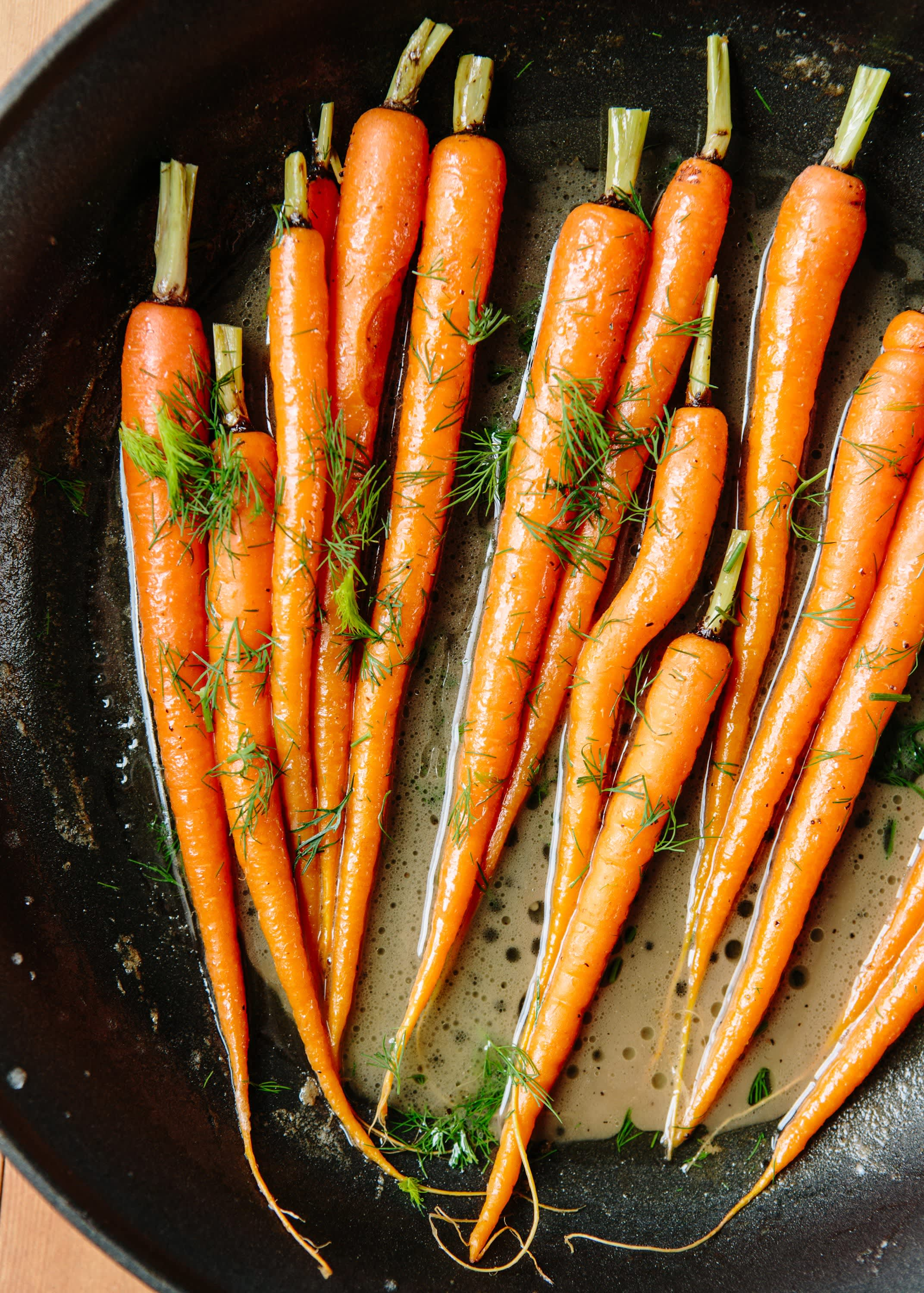 Diane Morgan's Braised Baby Carrots with Dill