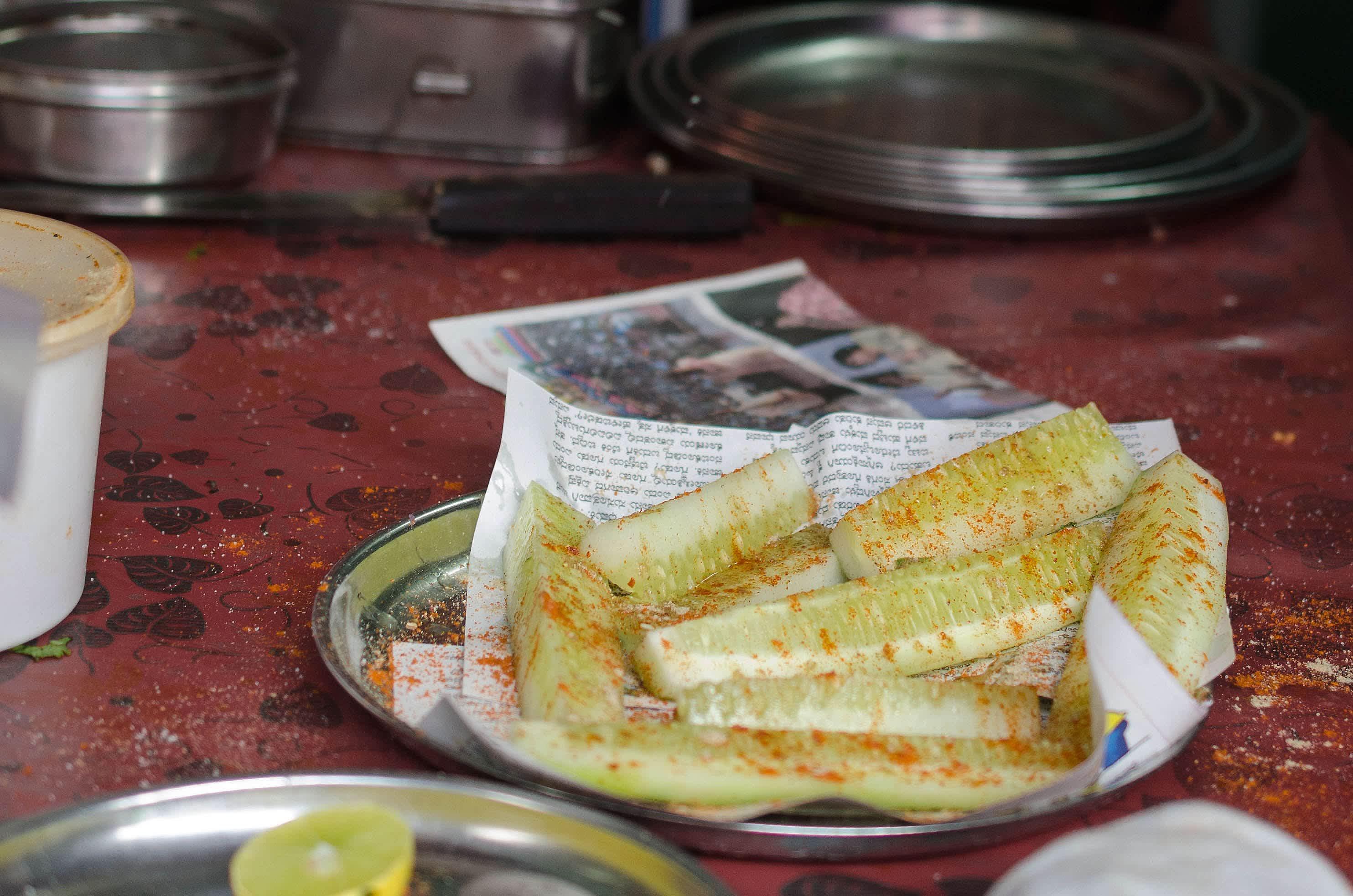Spiced Cucumber in India