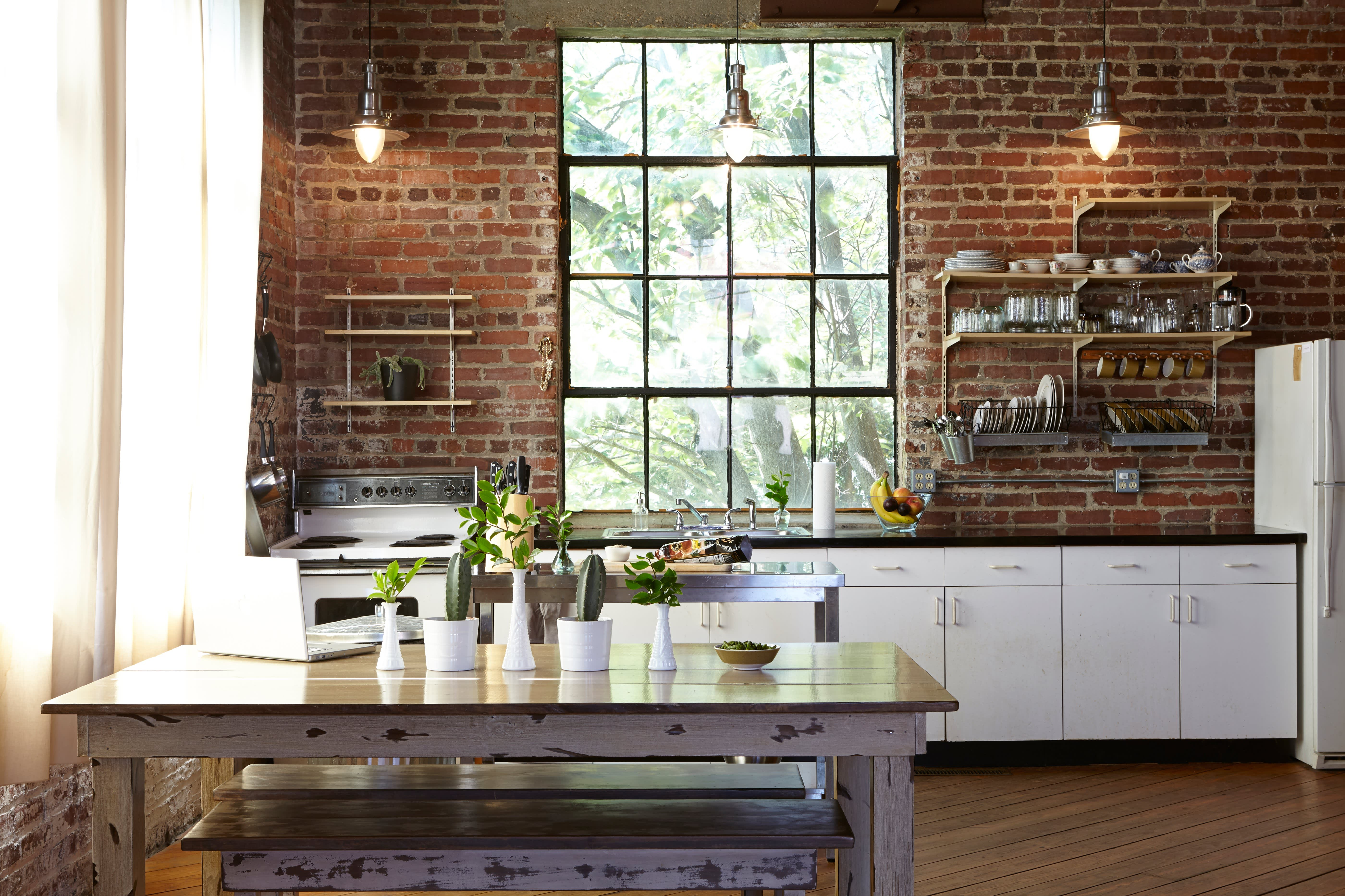 Julia's Open, Antique-Industrial Atlanta Kitchen: gallery image 1