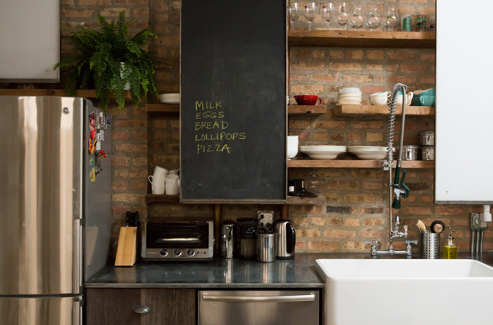 Small Kitchen Sliding Cabinet Doors Save Space