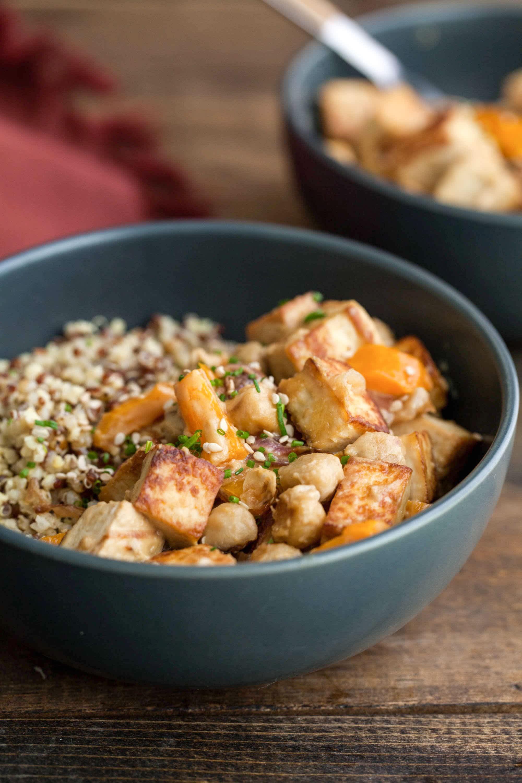 Recipe: Tofu Chickpea Stir-Fry with Tahini Sauce