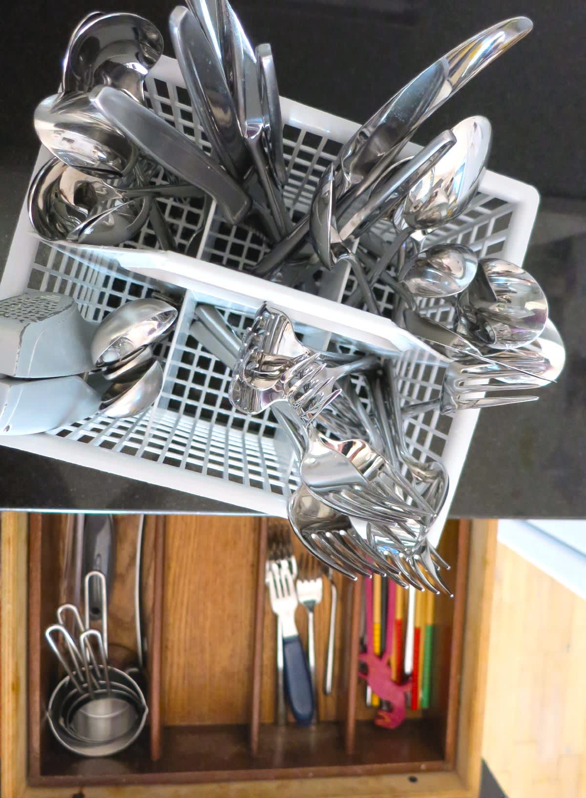 One Small Step to Make it Easier to Unload Utensils from the Dishwasher