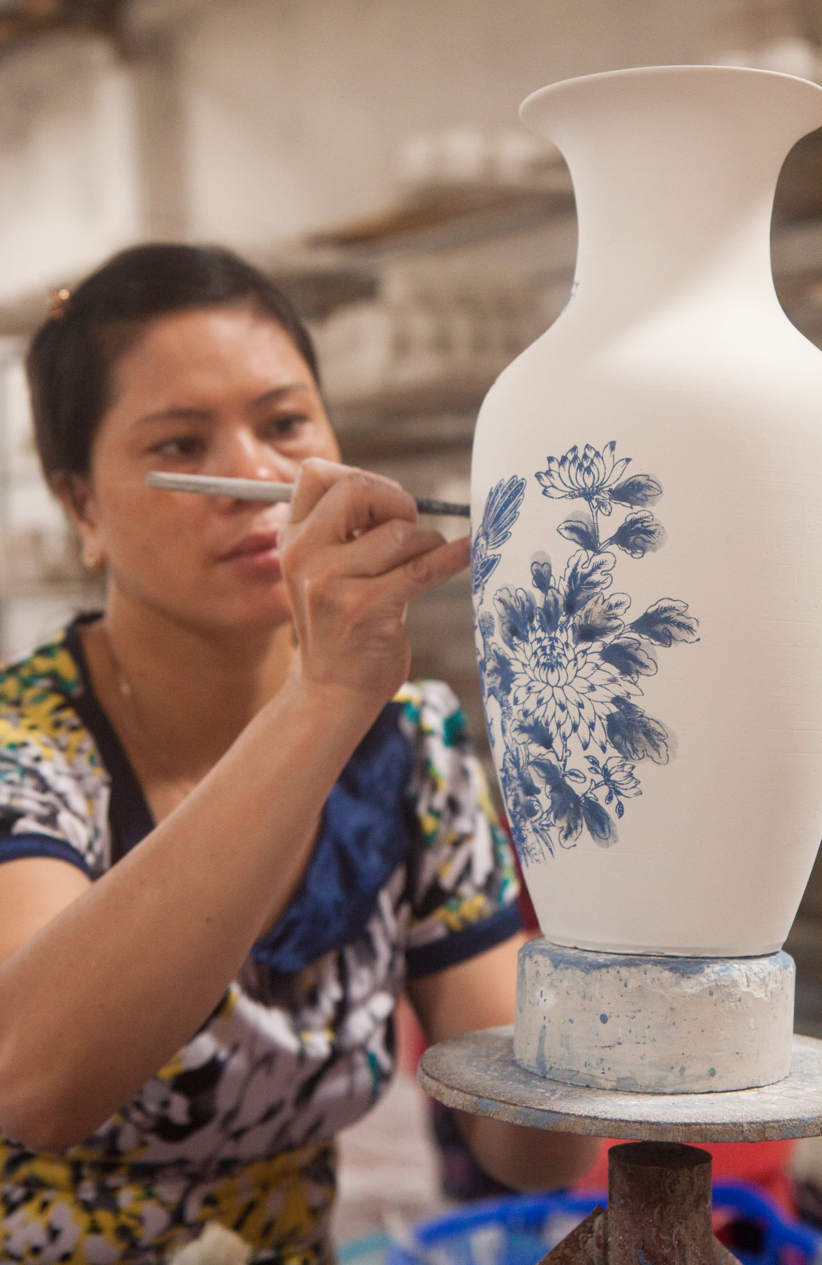 Visit the Ancient Village of Bat Trang, Vietnam, Where Everyone Makes Pottery: gallery image 13