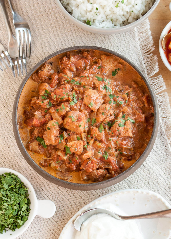 Slow Cooker Chicken Tikka Masala, Moroccan-Spiced Carrot Hummus, Baked Potato Casserole & Savory Oatmeal Cookies: gallery image 1