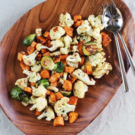 Recipe: Roasted Winter Vegetables with Miso-Lime Dressing