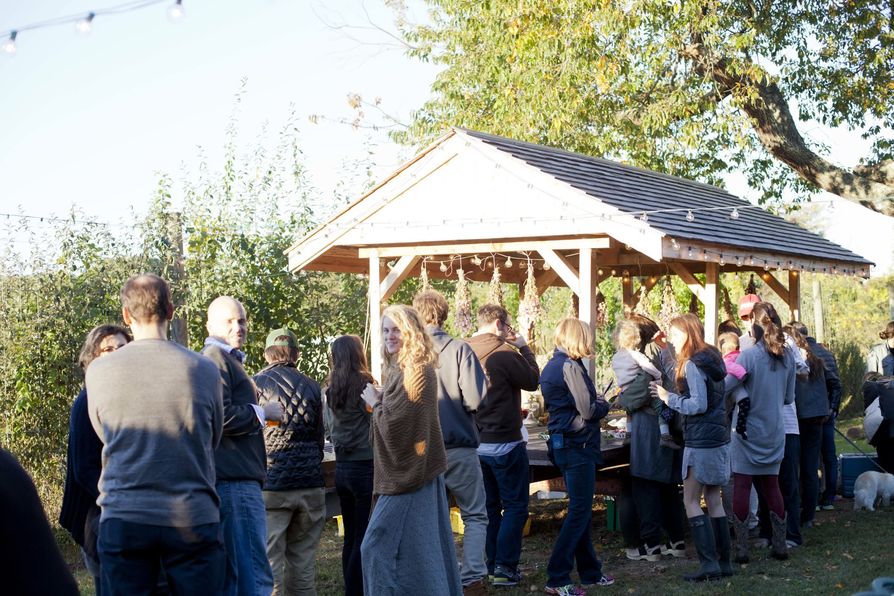 How Farmers Celebrate the End of a Season: The OktoberFeast Potluck at Amber Waves Farm: gallery image 4