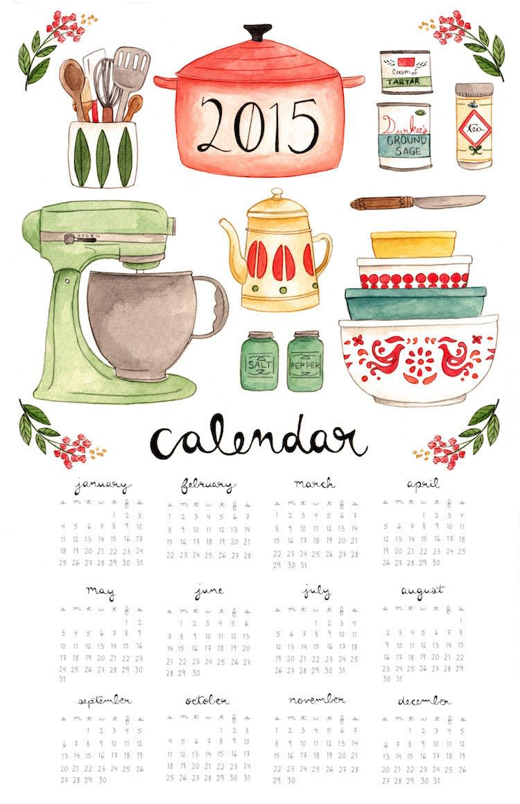 15 Food-Filled Calendars for 2015: gallery image 13
