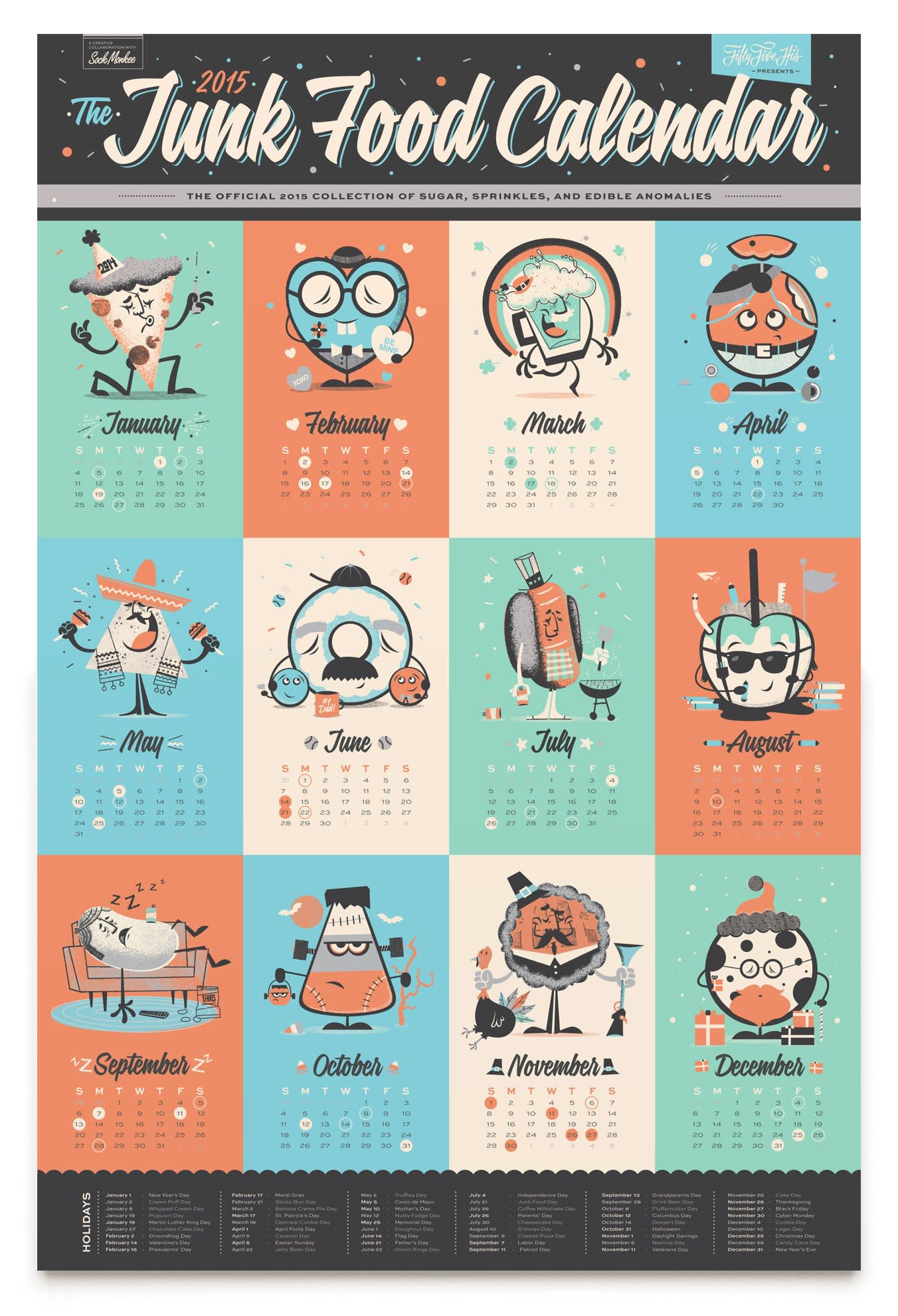 15 Food-Filled Calendars for 2015: gallery image 8