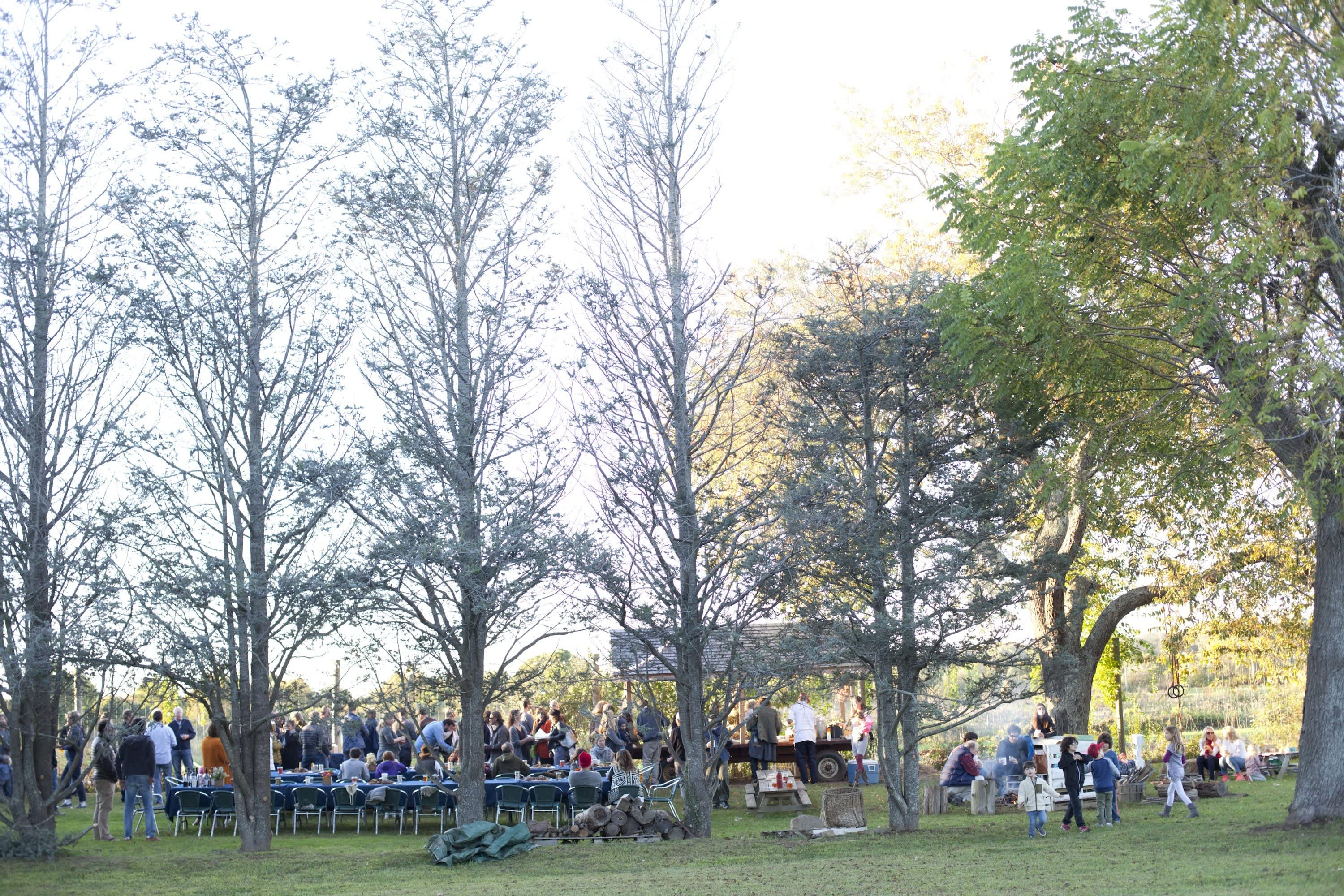 How Farmers Celebrate the End of a Season: The OktoberFeast Potluck at Amber Waves Farm: gallery image 37
