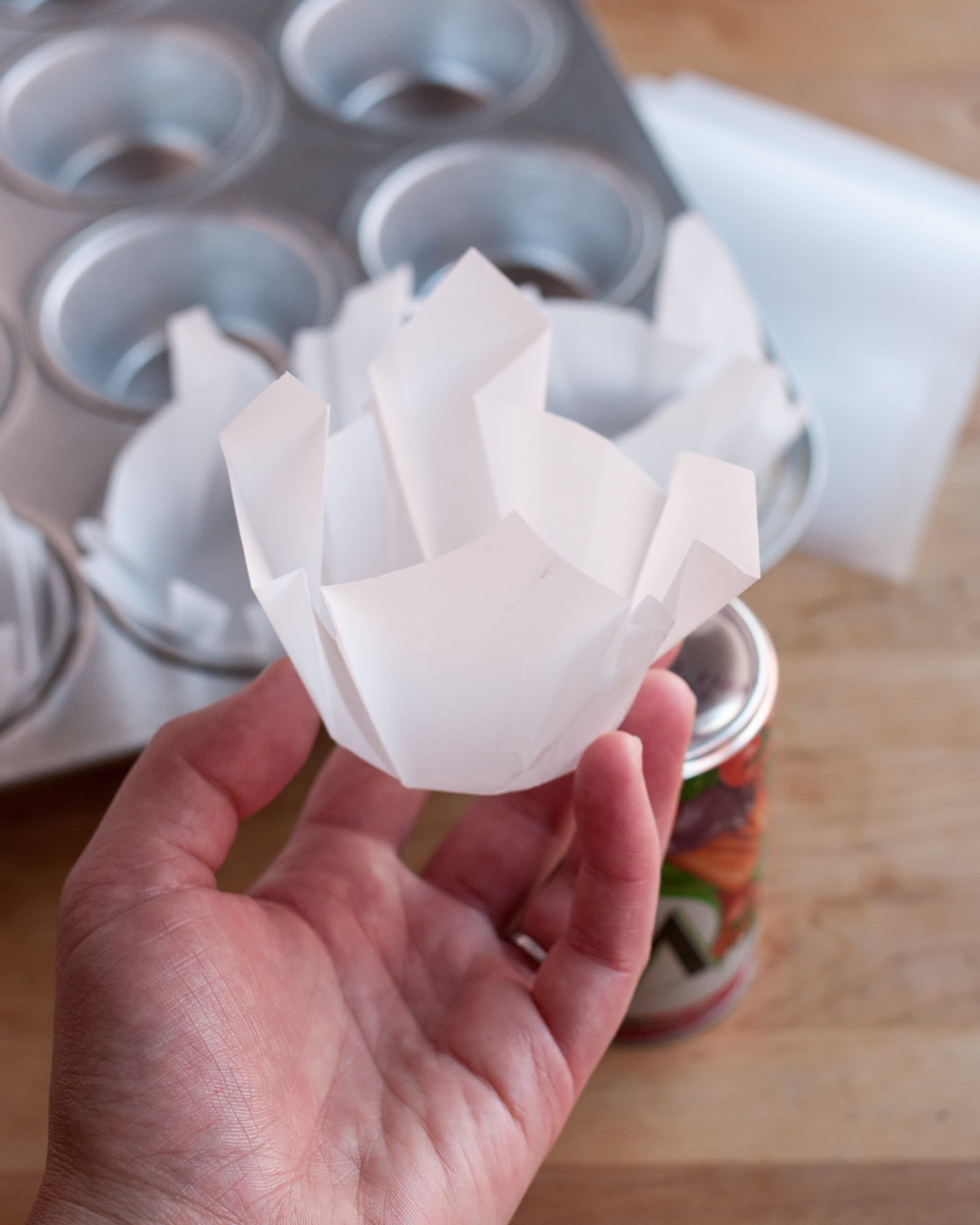 How To Make Muffin Liners Out of Parchment Paper: gallery image 10