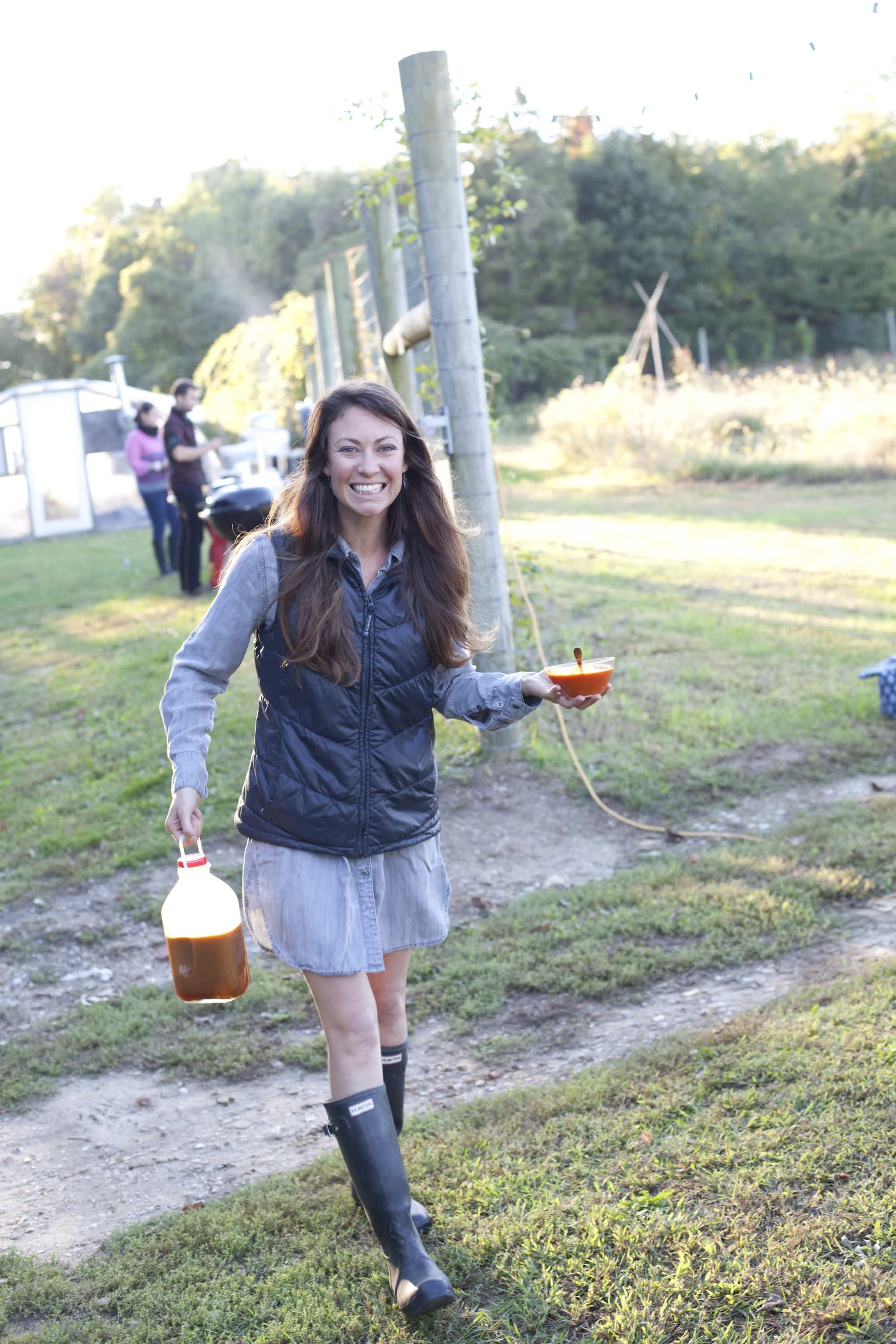 How Farmers Celebrate the End of a Season: The OktoberFeast Potluck at Amber Waves Farm: gallery image 6