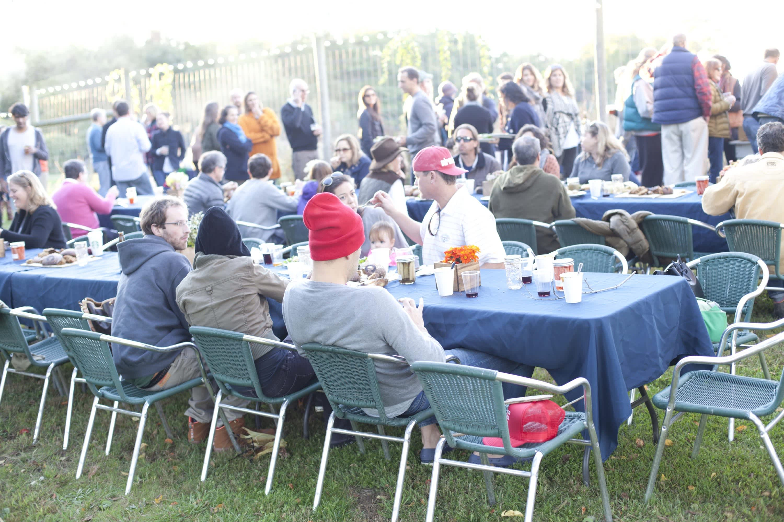 How Farmers Celebrate the End of a Season: The OktoberFeast Potluck at Amber Waves Farm: gallery image 1
