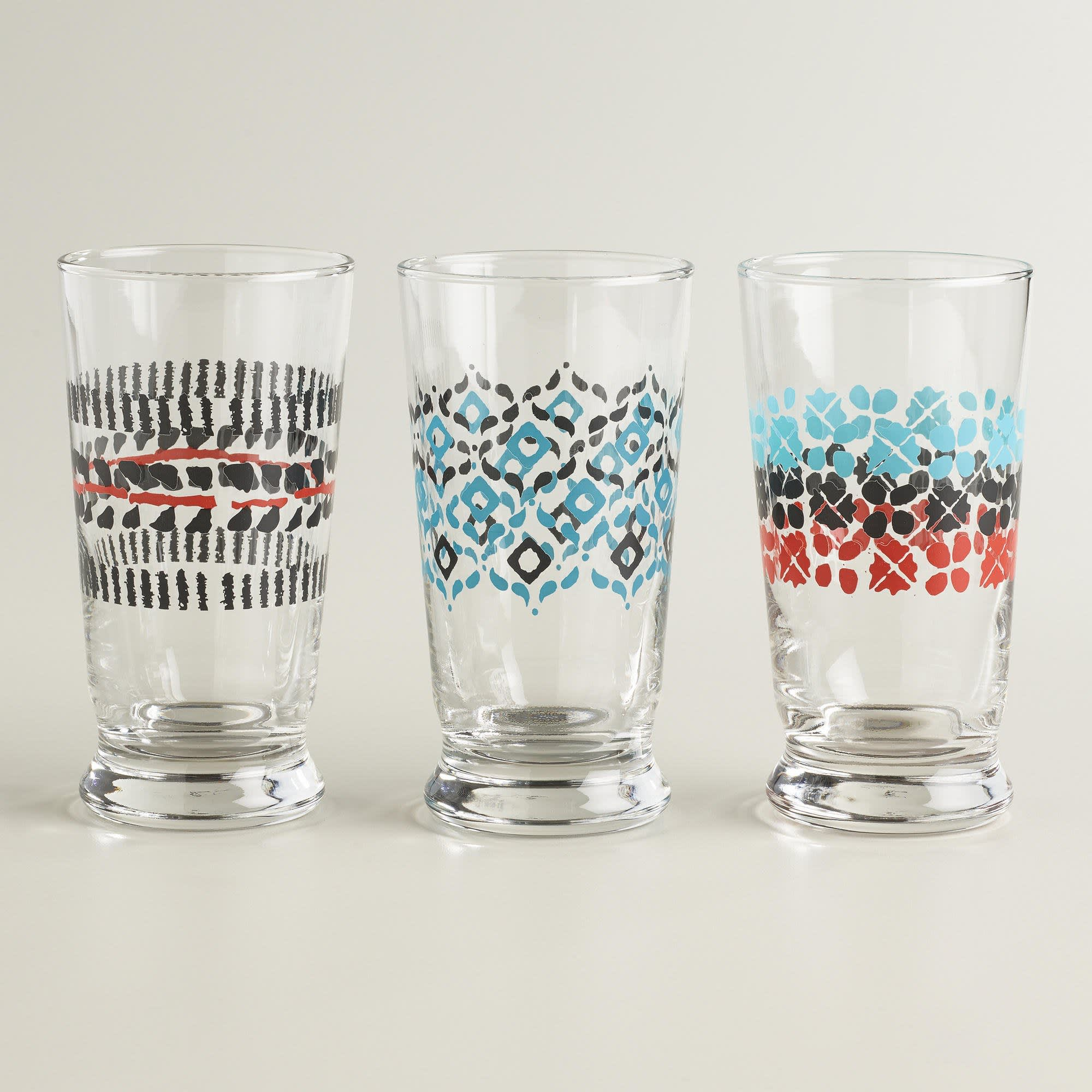 15 Patterned Glasses to Perk up Your Dinner Table: gallery image 14