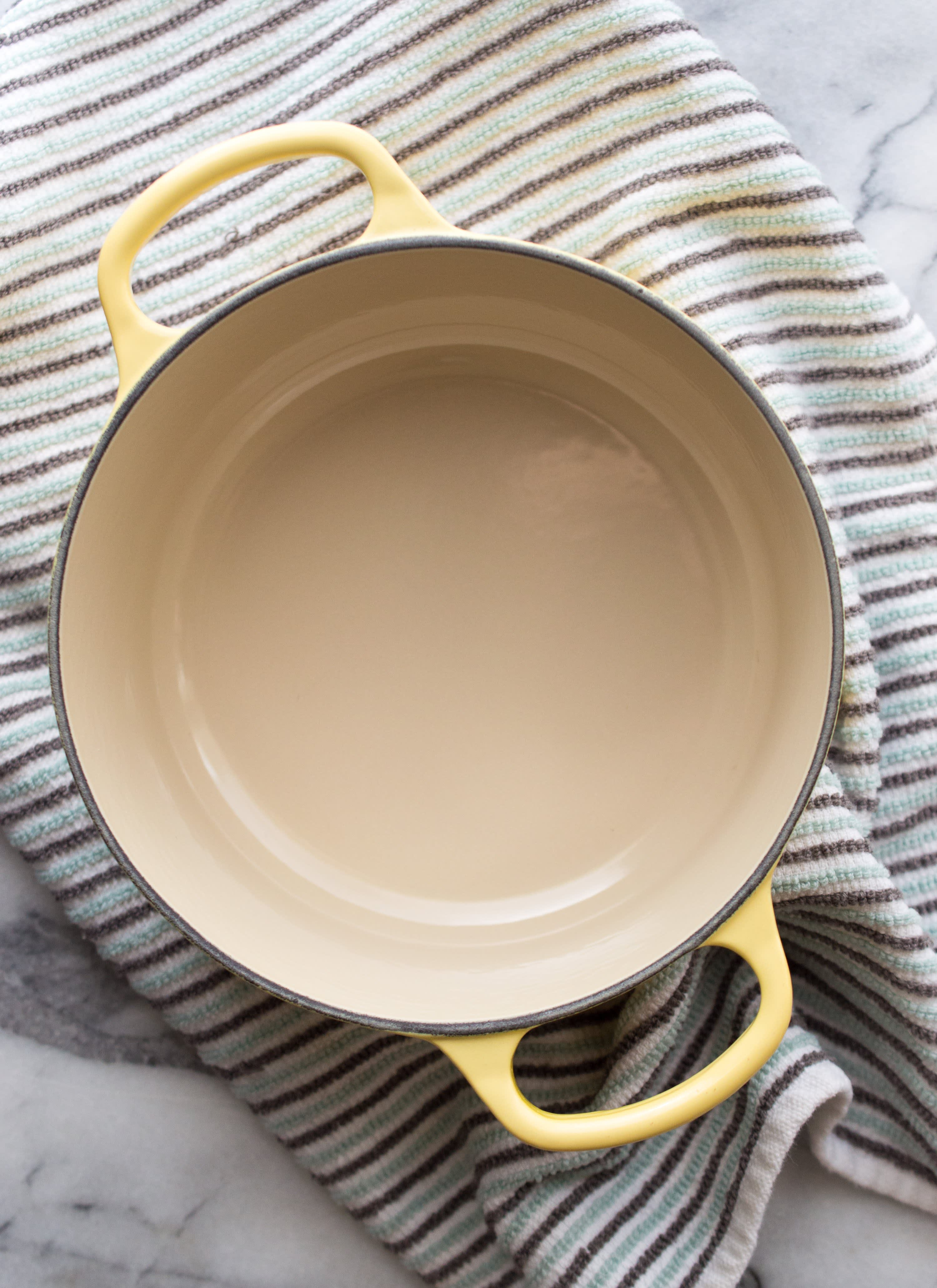 How To Clean Burnt Stains Off Enameled Dutch Oven Kitchn