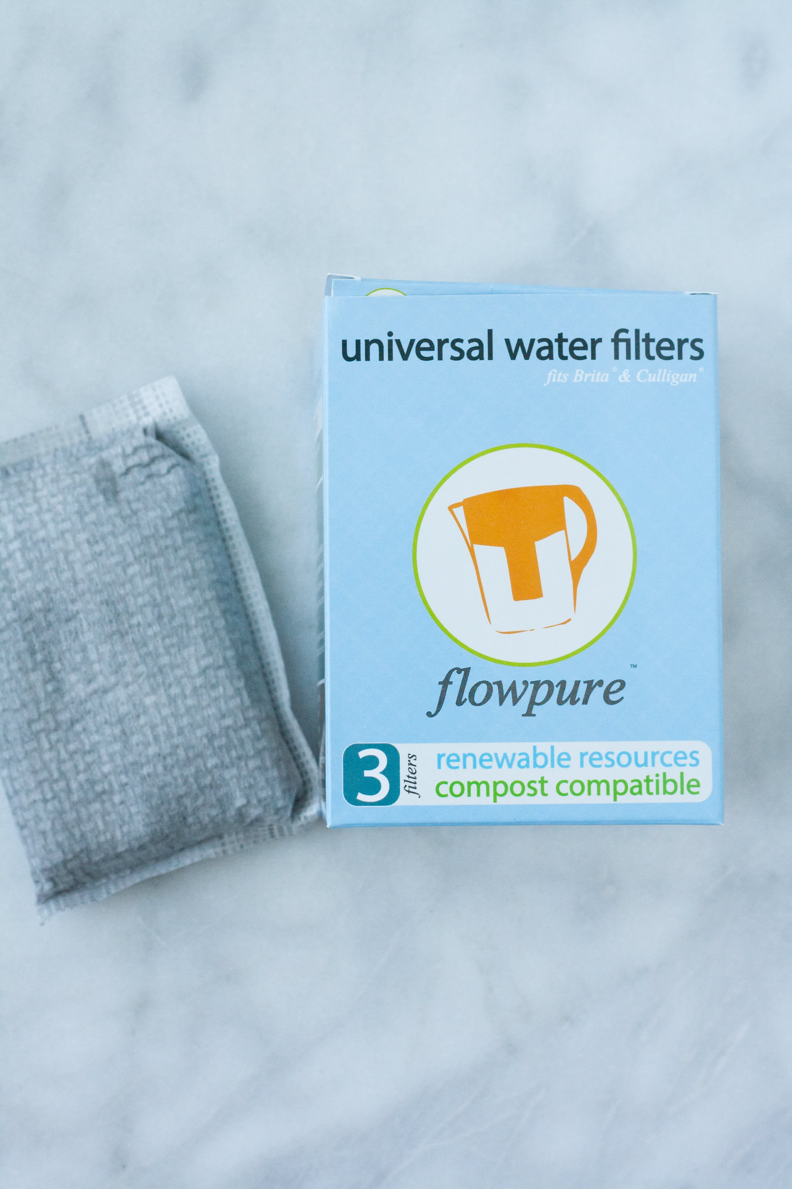 Flowpure Is a Green, Compostable Filter for Any Water Pitcher: gallery image 2