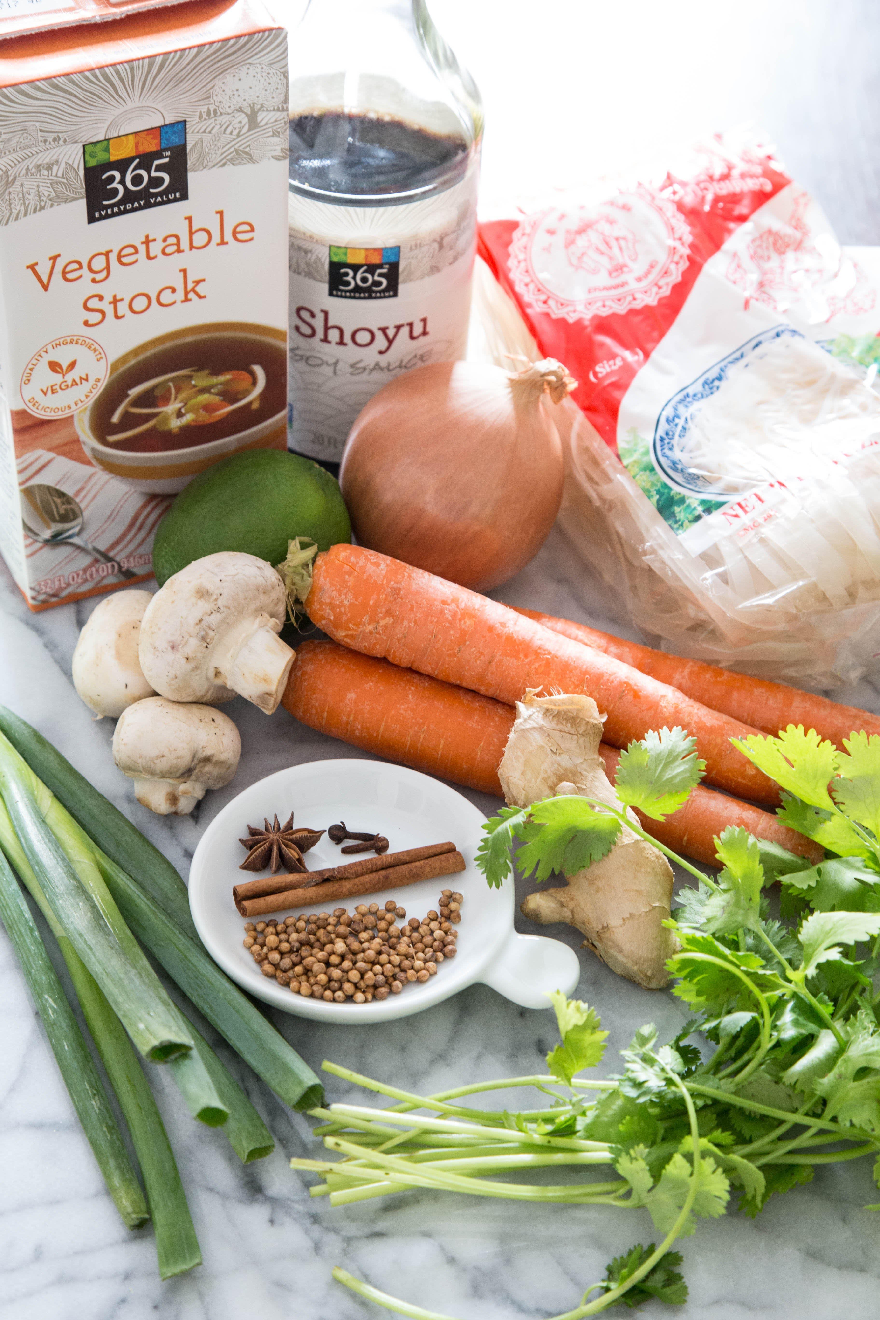 Recipe: Vegetarian Pho (Vietnamese Noodle Soup): gallery image 1