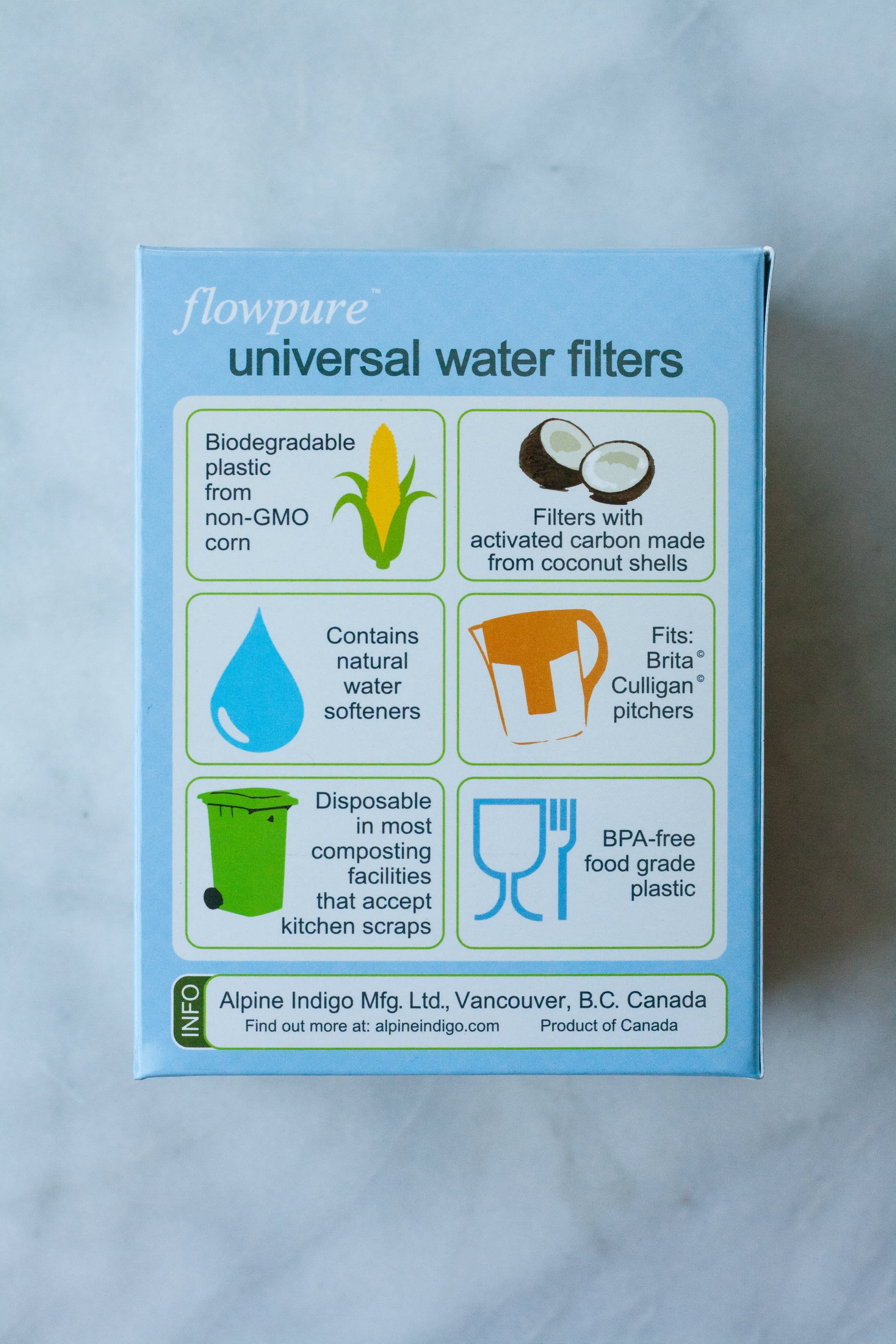 Flowpure Is a Green, Compostable Filter for Any Water Pitcher: gallery image 4