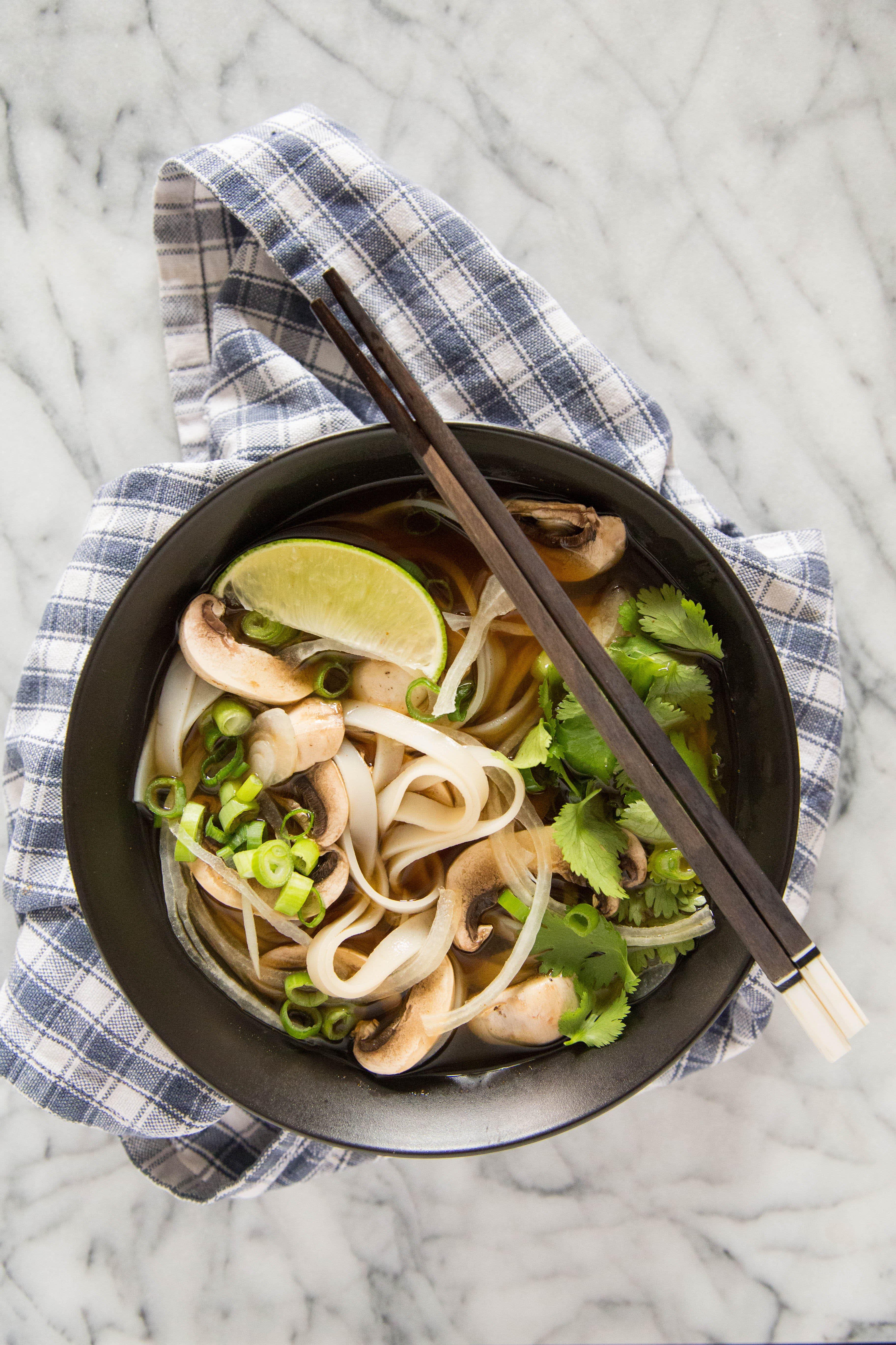 Recipe: Vegetarian Pho (Vietnamese Noodle Soup): gallery image 4