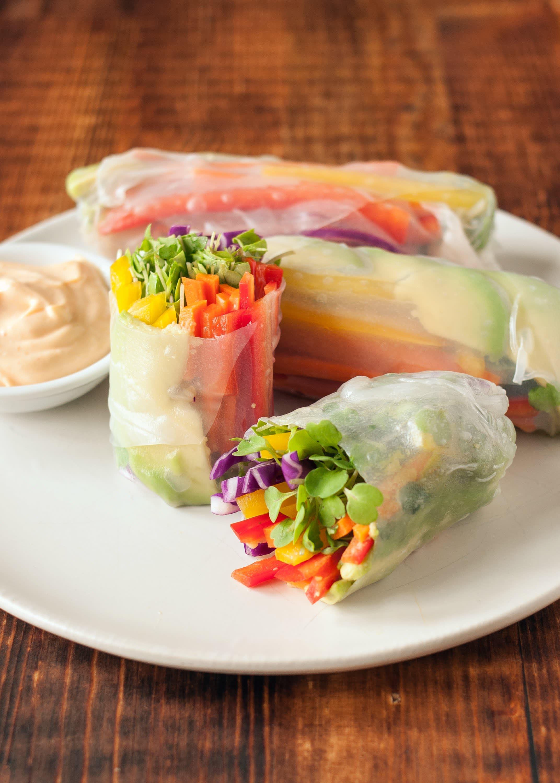 Vegetable Spring Roll Recipe: Rainbow...